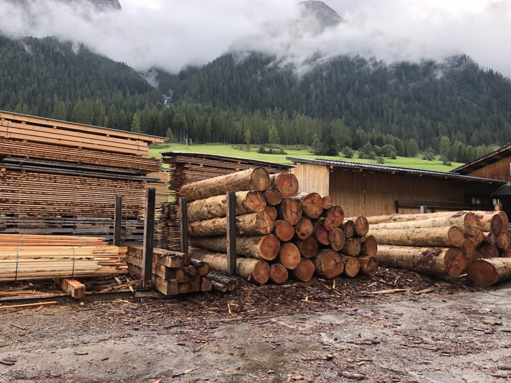 Wood Yard in Bergün, Switzerland